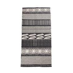 Bahne tæppe, Sonar, 70x120 cm - sort/hvid - Gulvtæpper - Bolig - BAHNE