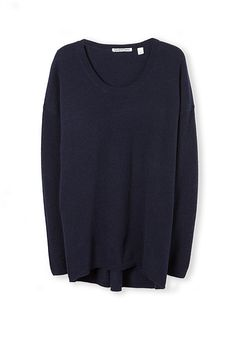 Relaxed, modern and versatile this essential knit in a lightweight merino blend is a go-to staple.
