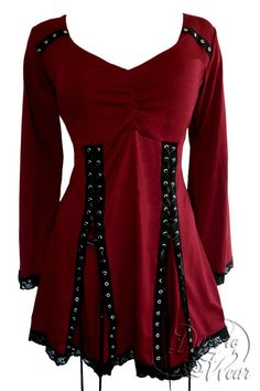 Dare To Wear Gothic Victorian Women's Electra Corset Top Garnet