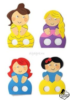 пальчиковые куклы из бумаги шаблоны - Bing Изображения Felt Crafts, Diy And Crafts, Paper Crafts, Diy For Kids, Crafts For Kids, Finger Puppet Patterns, Felt Finger Puppets, Art N Craft, Paper Toys