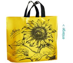 Sunflower reUSAble tote bag made 100% from recycled trash