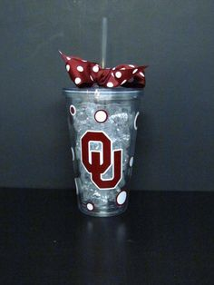 Oklahoma Sooners Insulated Travel Tumbler by SquigglyDoodles, $13.00