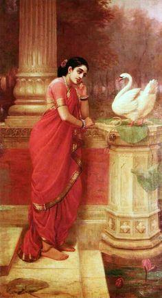 Princess Damayanti Raja Ravi Varma