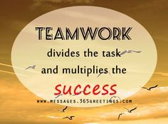 Share this on WhatsAppTeamwork quotes are quite significant to motivates a team and its members. An efficient and effective teamwork can bring success to a [. Best Teamwork Quotes, Good Teamwork, Team Quotes, Inspirational Teamwork Quotes, Leadership Quotes, Success Quotes, Motivational Quotes For Workplace, Workplace Quotes, Positive Quotes For Work