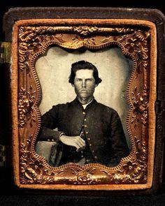 Andersonville survivor Private John Washington Christopher, Company A, 7th Tennessee Cavalry Regiment, USA, ca. 1863-1865