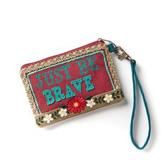 Just Be Brave Wristlet from artist Melody Ross. $15 #western #fashion #accessories