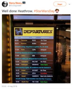 From Italy with Reylo: Heathrow on Star Wars Day