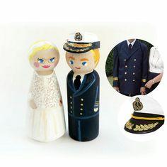 Sujets personnalisées pour le mariage d'un militaire dans la marine.