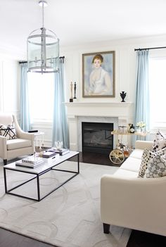 AM Dolce Vita: New Painting Over Fireplace, painting over fireplace, painting above fireplace mantel, antique portrait oil painting, Renoir, Madame Henriot