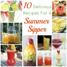 10 Delicious Recipes For A Summer Sipper