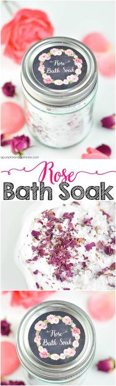 DIY Rose Bath Salts