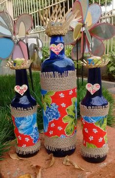 Decoração de Festa Junina: 25 Ideias Incríveis para Se Inspirar! Sunday School Activities, Activities For Kids, Easy Crafts, Diy And Crafts, Party Decoration, Bottle Art, Glass Art, Projects To Try, Christmas Decorations