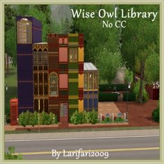 Wise Owl Library - NOCC by Larifari2009 - The Exchange - Community - The Sims 3