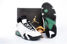 53a28a67cef387 Air Jordan 14 Retro Mens Basketball Shoes White black green