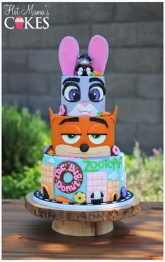 Zootopia  - Cake by Hot Mama's Cakes