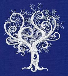 Snow Baroque Tree | Urban Threads: Unique and Awesome Embroidery Designs