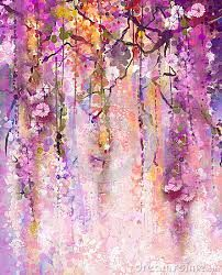 Image result for chinese brush painting wisteria