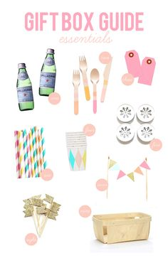 Gift box guide for house warming, birthday, or just because! Party In A Box, Party Kit, Birthday Box, Birthday Parties, Wedding Favours Bridesmaids, Party Like Gatsby, Baptism Party, Festa Party, Party Centerpieces