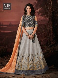 Rs7,100.00 Raw Silk Lehenga, Chiffon Saree, Party Wear Lehenga, Bridal Lehenga, Saree Shopping, Lehenga Choli Online, Indian Outfits, Indian Wedding Outfits, Indian Clothes