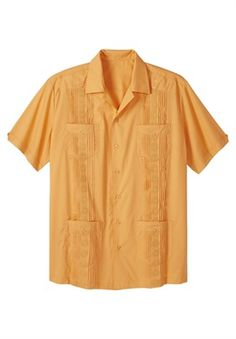 Kingsize Mens Big /& Tall Woven Camp Shirt