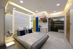 The latest pop design false ceiling for bedroom 2019 and how to choose the best option for your bedroom ceiling with plaster of paris, How to install pop ceiling design and how to finish it. Bedroom False Ceiling Design, Luxury Bedroom Design, Bedroom Ceiling, Interior Design, Gold Bedroom, Bedroom Sets, Master Bedrooms, Bedding Sets, Bedroom Photos