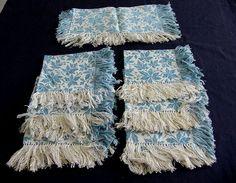 Set of 7 Vintage Silky Brocade Napkins by chalcroft on Etsy, $14.00