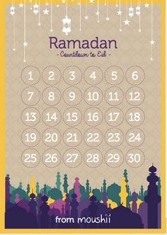 Download your FREE Ramadan Moushii Calendar | Moushii blog