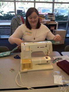 Helen - a volunteer, she made several pillowcases!