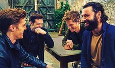 The [Poldark] boys are back Poldark Tv Series, Poldark Cast, Poldark 2015, Demelza Poldark, Ross Poldark, Jack Farthing, Luke Norris, The Young Victoria, Ross And Demelza