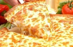 Among all pizzas cheese pizzas are their favorite. Here it'a recipe for Cheese pizza. Means a pizza with lots of cheese. You may say it cheese burst pizza also. Four Cheese Pizza Recipes, Pizza Recipe In Urdu, Feta Cheese Pizza, Cheese Food, Provolone Cheese, Gourmet Cheese, Easy Cheese, Cauliflower Pizza Dough, National Cheese Pizza Day