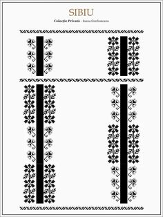 Semnele cusute - Un alfabet care vorbeste despre noi Folk Embroidery, Learn Embroidery, Hand Embroidery Designs, Embroidery Patterns, Cross Stitch Patterns, Beading Patterns, Romania, Palestinian Embroidery, Moldova