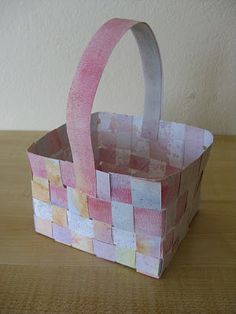 Very cute baskets for spring or mother's day!  Made with hand painted water color strips!
