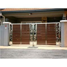 Metal Gate in Coimbatore, Tamil Nadu, India - Manufacturer and Suppliers Latest Gate Design, Home Gate Design, Gate Wall Design, Grill Gate Design, House Main Gates Design, Front Gate Design, House Design, Door Design, Modern Steel Gate Design