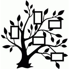 I think I'm in love with this design from the Silhouette Design Store! Ich glaube, ich bin verliebt in dieses Design aus dem Silhouette Design Store! Silhouette Design, Silhouette Images, Tree Silhouette, Family Tree Photo, Family Tree Wall, Photo Tree, Tree Stencil, Stencils, Tree Wall Decor