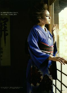 Model/ Jun Hasegawa in GLITTER (Japan Magazin) 2007. Kimono Beautiful.