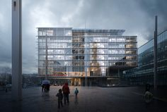 Renzo Piano Building Workshop - Projects - By Type - Maison des Avocats Plan Concept Architecture, Architecture Drawing Plan, Architecture Portfolio, Facade Architecture, Architecture Diagrams, 3d Architectural Visualization, Architecture Visualization, Architectural Models, Architectural Drawings