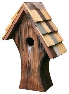 Nottingham Bird House rustic-birdhouses