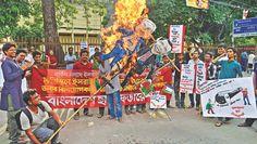 Anti US-NATO imperialism demonstration in Bangladesh