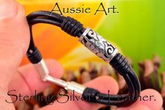 B030 Aussie Made Sterling Silver & Leather New by BravoCollection, $28.00