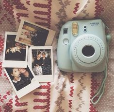 I dont know if I want a Polaroid camera in this baby blue color or in black.... which one do you think??
