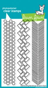 *Lawn Fawn INTERLOCKING BACKDROPS Clear Stamps $14.99