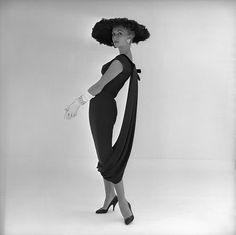 dress by John Cavanagh, photo by John French (1957)