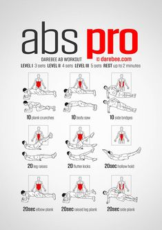 There are four abdominal muscle groups: frontal abs, internal and external obliques and core. Abs Pro targets them all in a workout that is designed to totally test your abs muscle strength and help you develop the kind of abdominals that enhance athletic performance. Add EC and you have a really challenging abs fitness routine.
