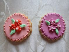 Hand-decorated flower medallion sugar cookie by CreativeChaosinCT, $36.00