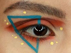 abstract eye makeup looks \ abstract eye makeup looks Colorful Eye Makeup, Simple Eye Makeup, Makeup For Green Eyes, Natural Makeup, Eyeliner For Beginners, Makeup Tips For Beginners, Kat Von D, Nyx Cosmetics, Eye-liner Graphique