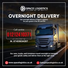 Get your parcels/pallets/goods be delivered to any approachable location in the UK and EU at the best pricing but ultimate care with Space Logistics. ◾ Call us for a quote on 📲 01212410371 or 📲 07459034207. Overnight Delivery, Uk Europe, About Uk, Pallets, Transportation, Health Care, Quote, Space, Travel