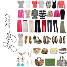 Spring 2012, created by modestlychicstyle on Polyvore......super cute ideas