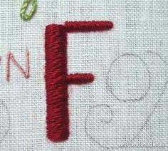 Hand Embroidery: Lettering and Text in Satin Stitch and Chain Stitch