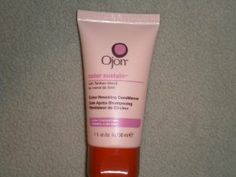 Ojon Color Sustain Color Revealing Conditioner for Color Treated Hair 1oz/30ml by Ojon. $2.99. Nourishes hair while preserving color vibrancy and shine.. New, travel size product.. A smooth surface is vital to vibrant hair color. But coloring hair can ruffle the outer layer of hair. The surface is not so smooth. This rich, hydrating cream conditioner fortified with nature's hair-repairing golden elixir, Tahitian Monoi, Sunflower Seed Oil and Rosemary Leaf Extract ...