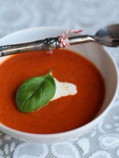 Romige tomatencrèmesoep